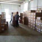 Vận chuyển sắp xếp kho nhà phân phối TOTO